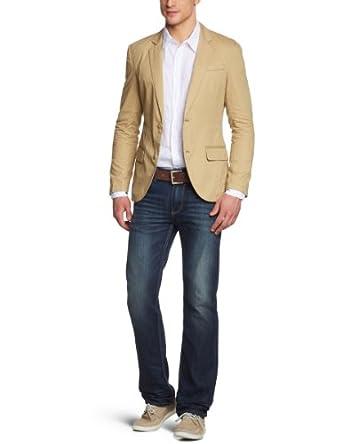 ESPRIT Blazer Homme Beige (259 Flax Beige) FR : 39/40 (Taille