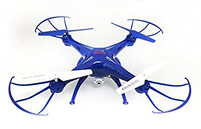 Syma X5SW-1 FPV HD Camera Drone with Real Time Transmission in Exclusive Blue design with extra battery X5SW