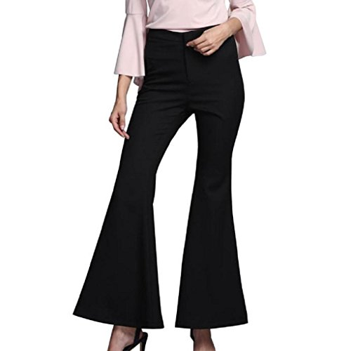 elevintm-women-fashion-casual-long-sleeved-round-neck-sexy-top-wide-leg-pants