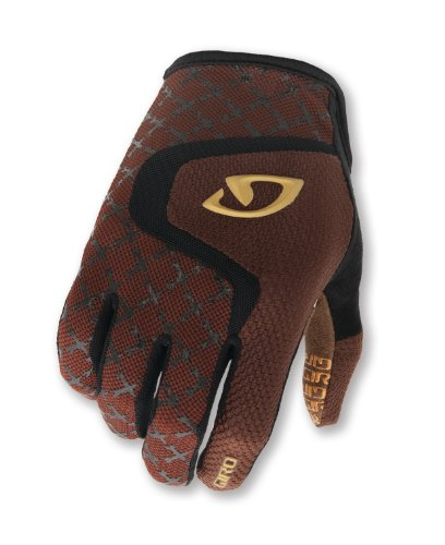 Giro Rivet Mountain Biking Gloves, Brown/Black Bombs, Large