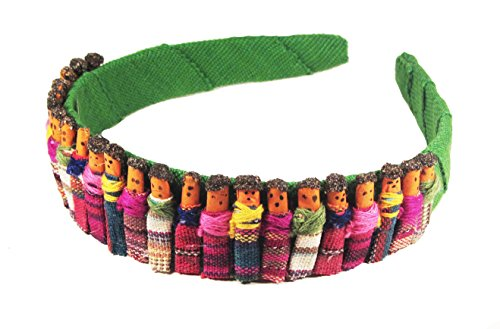Worry Doll Headband - Light Green - 1