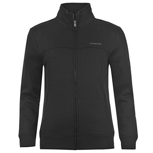 la-gear-womens-full-zip-fleece-ladies-long-sleeve-casual-top-jacket-black-16-xl