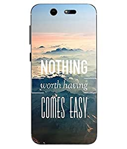 Make My Print Slogan Printed Multicolor Soft Back Cover For LYF EARTH 2