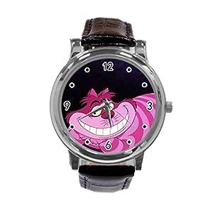 the-cheshire-cat Unique Diy Custom Photo Design Round Wrist Women Watch -S33