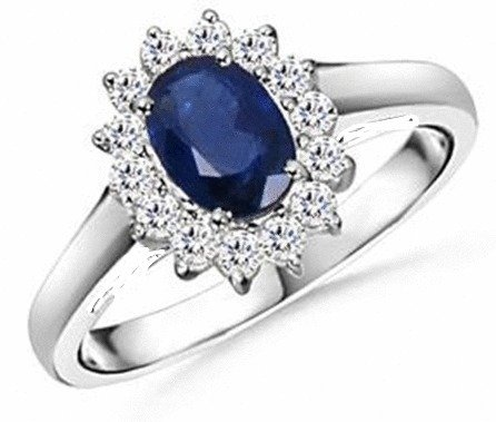 Princess Kate Style Fashion Engagement Ring Size 5