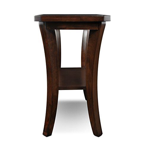 Leick furniture boa collection solid wood narrow chairside for Narrow accent table