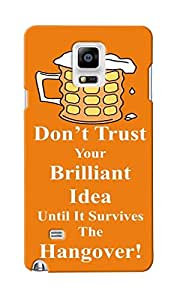 KnapCase Don't Trust Idea Designer 3D Printed Case Cover For Samsung Galaxy Note 4
