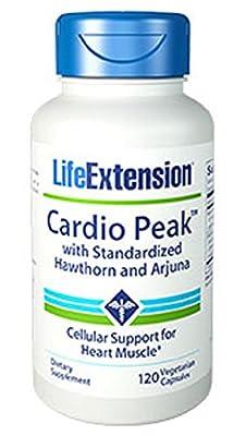Life Extension Cardio Peak (with Standardised Hawthorn & Arjuna, 120 Vegetarian Capsules) from Life Extension