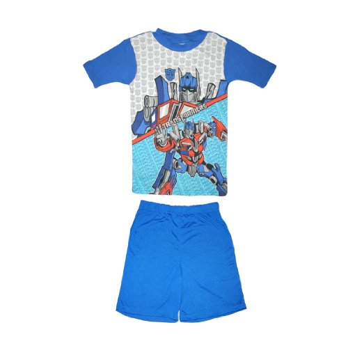 2 PCS SET: Tranformers Boys Or Girls Sleepwear Pajama Short Sleeve Top & Shorts Set