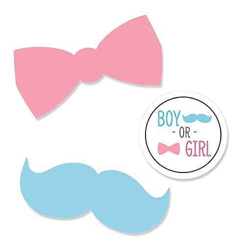 Gender Reveal - Shaped Party Paper DIY Cut-outs - 24 Count