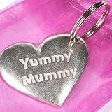 Yummy Mummy Pewter Key Ring in Organza bag