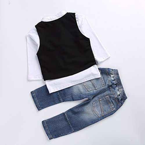 Cute Kids Boys Clothing Shirt, Vest and Jeans.