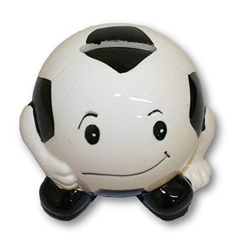 "Ceramic Soccer Bank - 4"" Diameter - 1"