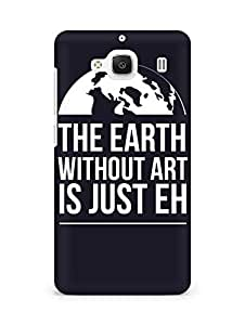 Amez designer printed 3d premium high quality back case cover for Xiaomi Redmi 2 Prime (Earth)