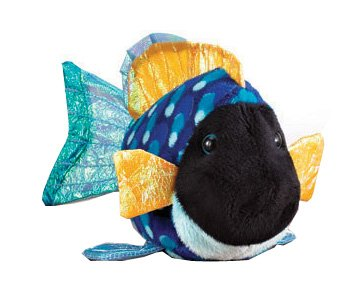 Ganz Lil' Webkinz Plush - Lil' Kinz Blue Triggerfish Stuffed Animal - 1