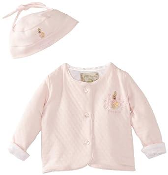 Peter Rabbit Beatrix Potter Baby Girl's Jacket and Hat Pink Newborn