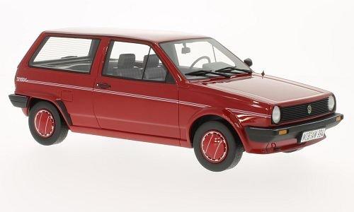 VW-Polo-II-Typ-86c-Steilheck-Fox-rot-1986-Modellauto-Fertigmodell-BoS-Models-118