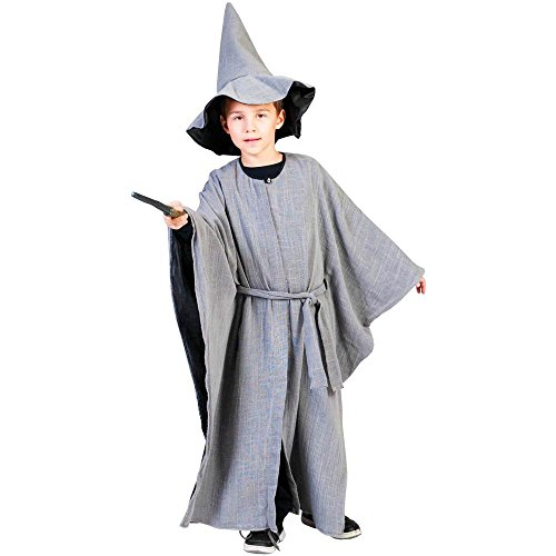 Grey Wizard Kids Costume