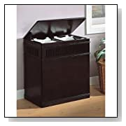 Coaster Black Wood Laundry Basket With Lid