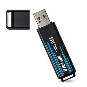 : BUFFALO 転送速度71MB/s USB3.0用 USBメモリー 8GB RUF3-S8GS-BK