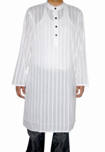 Boho Yoga Cotton Mens Long Kurta Shirt Casual Wear Indian Size 5XL
