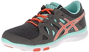 ASICS Women's Gel-Fit Tempo Fitness Shoe, Granite/Electric Orange/Mint, 6 M US