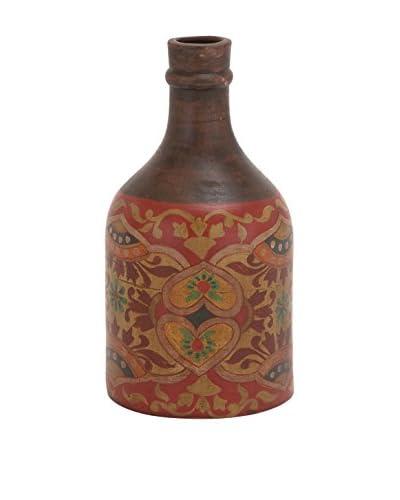 Terracotta Bottle Vase, Brown/Multi