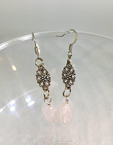 Rose Quartz Semi-Precious Gemstone Earrings (Ariel Gem Ring compare prices)