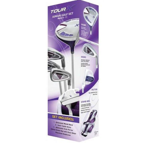 merchants-of-golf-tour-x-purple-5-piece-junior-golf-complete-set-with-stand-bag-right-hand-8-11-age-