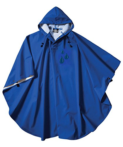 Charles River Unisex Pacific Poncho Raindrop Edition, Royal