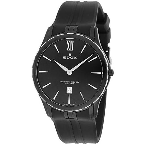 [エドックス]EDOX 腕時計 ウルトラスリム ブラック文字盤 ステンレス(BKPVD) 27033-357N-NIN メンズ 【並行輸入品】