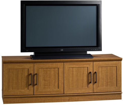 Image of Sauder Homeplus TV / Wall Cabinet Sienna Oak (B007SO5O6Q)