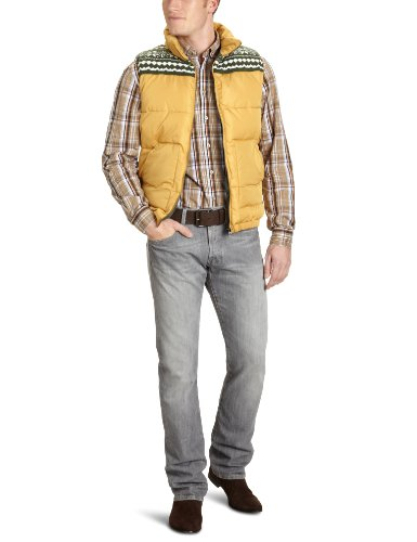 Selected Homme Jeans Knitted C Men's Gilet Honey Mustard Large