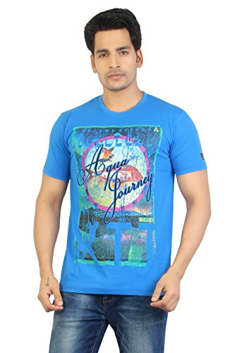 Aliep Aliep Stylish Royal Blue Printed Half Sleeves T-Shirt For Men | ALP1601 (Multicolor)