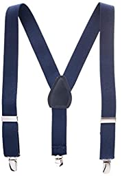 Suspenders for Kids Boys and Baby - Premium 1 Inch Suspender Perfect for Tuxedo - Navy Blue (Size 26\