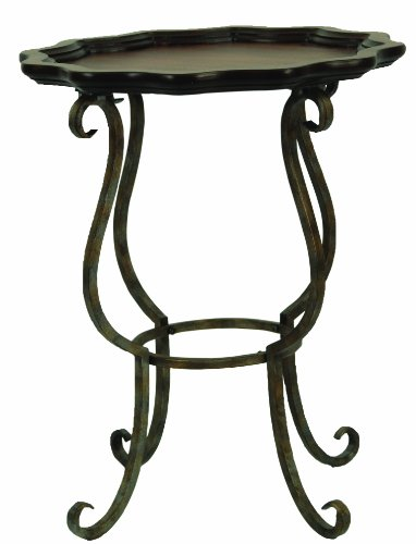 Safavieh American Home Collection Beaune Cappuccino Scalloped End Table Amazon.com