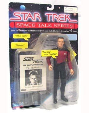 "Star Trek the Next Generation Space Talk Series 7 Inch Q"" Talking Action Figure"""