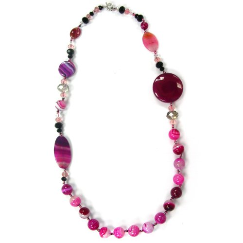 Pearlz Ocean Ocean Agate and Glass 32-inch Fashion Necklace