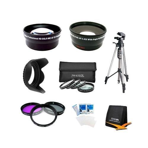 Pro Shooter 58Mm Wide Angle/Telephoto Lens Kit For Canon Eos Rebel T4I,T3I,T3,T2I,7D,60D That Use Canon Lenses (18-55Mm, 75-300Mm, 50Mm 1.4, 55-200Mm) Includes 58Mm Wide Angle & Telephoto Lens,Close Up Lens Set, Full Size Tripod,Filter Kit And More