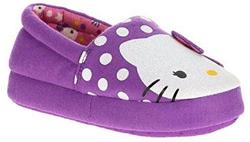 Hello-Kitty-Girls-Purple-Slippers