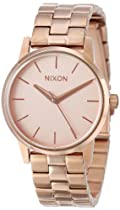 Nixon A361897 Small Kensington All Rose Gold Steel Bracelet Women Watch NEW
