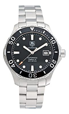 Tag Heuer Men's Aquaracer Calibre 5 Stainless Steel Black Dial Watch #WAN2110.BA0822 from TAG Heuer