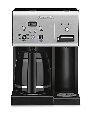 Cuisinart CHW-12 Coffee Plus 12-Cup Programmable Coffeemaker with Hot Water System, Black/Stainless (Cuisinart Coffe Cup compare prices)