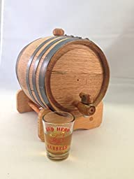 1-liter American Oak Barrel | Handcrafted using American White Oak | Age your own Whiskey, Beer, Wine, Bourbon, Tequila, Hot Sauce & More by Longhorn Barrels