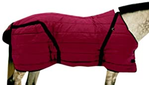 High Spirit Snuggie Stable Blanket, 70-Inch, Burgundy/Black