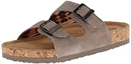 Skechers Women\'s Memory Foam Double Strap Sandal,Taupe,6 M US