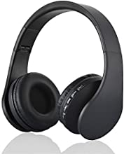 Sunvito 4 in 1 Faltbare Bluetooth 3.0 Kopfhörer mit MP3 Player, FM Radio, Wired Headset mit Mikrofon Over-Ear-Stereo-Headset für iPhone, Samsung, iPod, Android, Laptops, PC