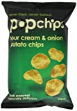 Popchips Sour Cream and Onion Popped Potato Chips 85 g (Pack of 12)