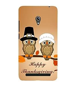 EPICCASE happy thanksgiving Mobile Back Case Cover For Asus Zenfone 6 (Designer Case)