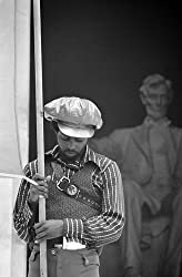 Black Panther 'Delegate,' Lincoln Memorial, 1970 - 16x20-inch Photographic Print from the Library of Congress Collection